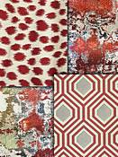 Red Modern Tapestry Fabrics
