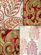 Red Paisley Fabric