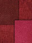 Red Chenille Upholstery Fabric
