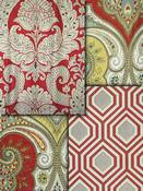 Red Medallion Fabric