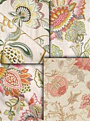Blush Rose Jacobean Fabrics