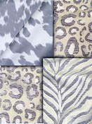 Grey Animal Fabric