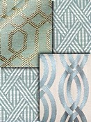 Spa Blue Trellis Fabrics
