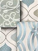Spa Blue Embroidered Fabrics