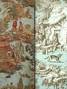 Spa Toile & Chinoiserie Fabric