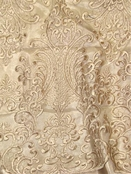 Champagne Wedding Lace Fabric