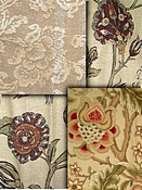Tan Jacobean Fabrics