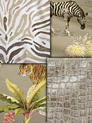 Taupe Animal Fabric