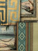 Teal Southwest Lodge Fabric