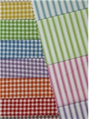 New Woven Ticking Stripe Fabric - Gingham Fabric