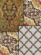 Brown Medallion Fabric