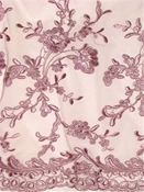 Pink Wedding Lace Fabric