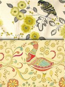 Citron Yellow Bird Fabric