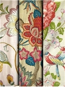 Botanical & floral fabric by the yard