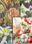 Floral Curtain Drapery fabric