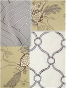 Embroidered Fabric Crewel Fabric