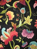Black Jacobean Fabric