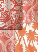 red outdoor fabric