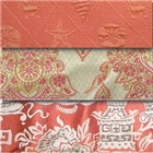 Coral and Orange fabrics for drapery & upholstery