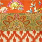 Orange fabrics for drapery & upholstery
