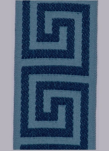 Navy Greek Key Tape 825-402