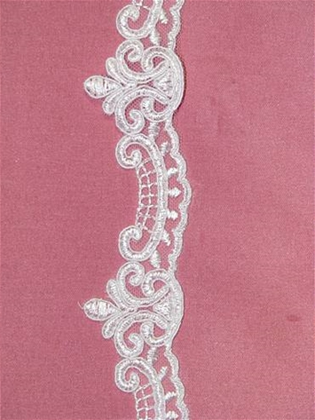 ALTTV0092C White Lace Trim