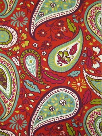 Art Paisley Poppy Crypton Fabric
