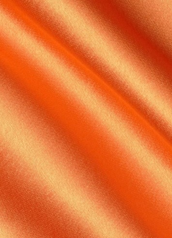 Orange Crepe Back Satin Fabric