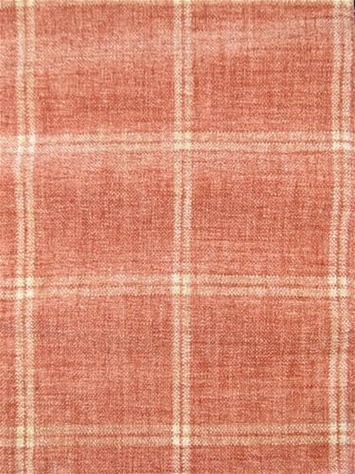Campbell Coral Chenille Plaid