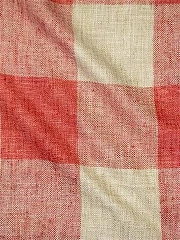 Check Please Coral P Kaufmann Fabric