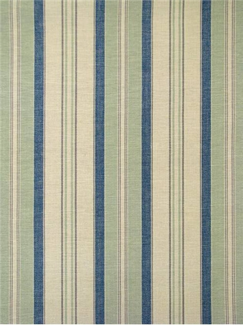 Dover Stripe Cream Aqua Blue