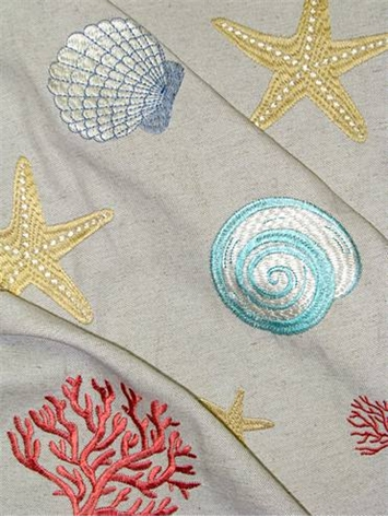 Beach Embroidery Coral