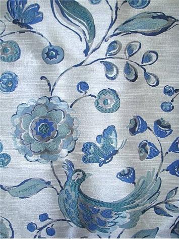Flights of fancy galaxy blue drapery fabric for Galaxy sheer fabric