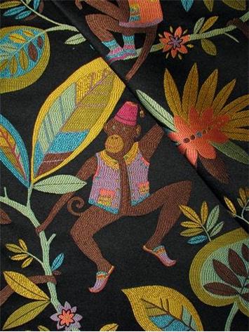 Black Tape Project >> Funky Monkey Oasis | P. Kaufmann Fabric