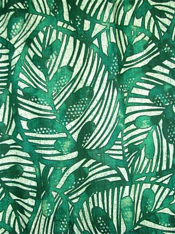 Gallant Leaf Emerald Batik Fabric