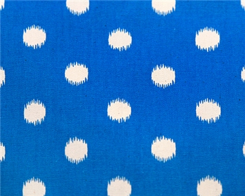 Ikat Dots Grasshopper Blue/Natural