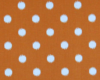 Ikat Dots Gumdrop Orange/Natural