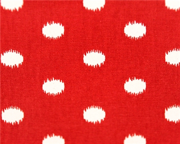Ikat Dots Primary Red/Natural
