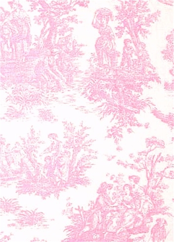 Jamestown - Baby Pink Toile Fabric