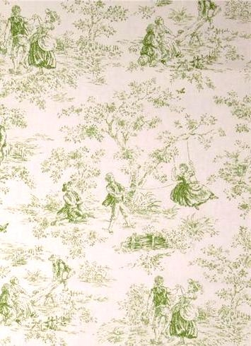 Kensington Garden Apple Toile Fabric