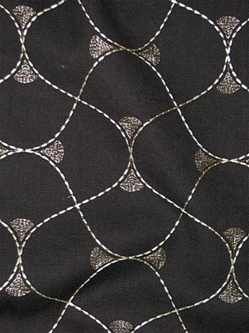 Luffing Onyx Embroidered Fabric