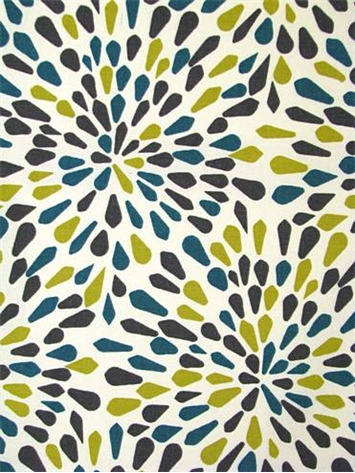 Many Petals Turquoise Crypton Fabric