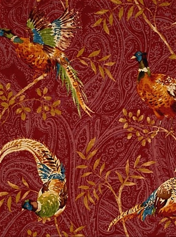 Monarch Chianti Pheasant Fabric