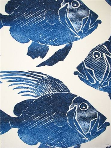 Odl Fish Navy Outdoor Fabric By The Yard