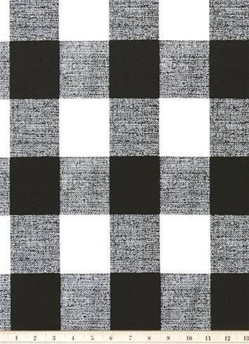 Outdoor Buffalo Check Black Outdoor Fabric By The Yard