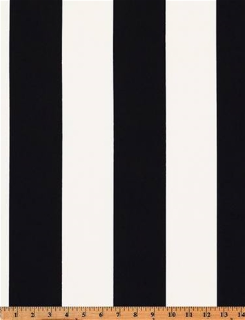 Outdoor Awning Stripe Black White