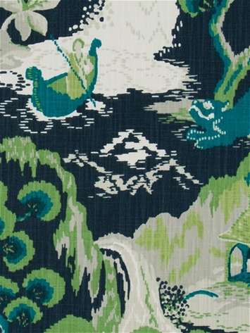 Madcap Cottage Road To Canton Marrakech Green Teal Fabric