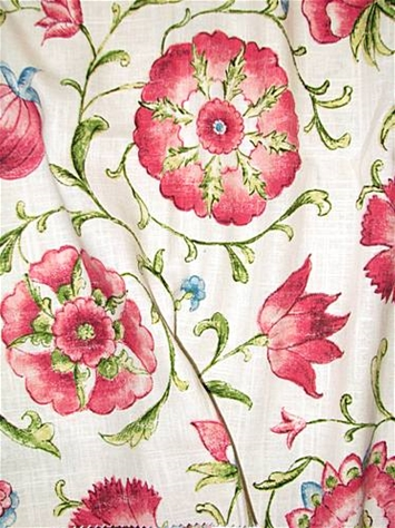 Roundelay Scarlet Floral Fabric