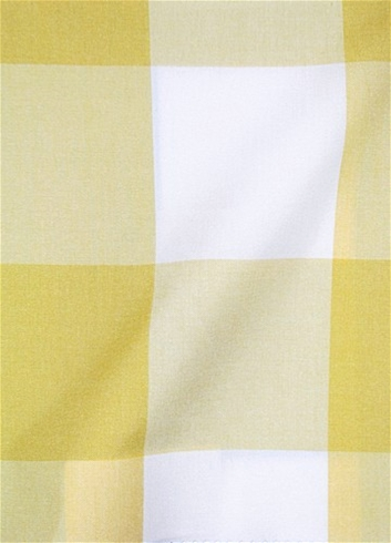 Seaside Lemon Plaid Fabric