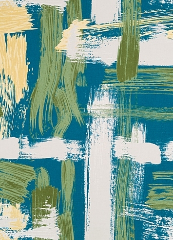 Sedge Abstract Turquoise
